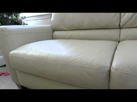 Review of the Macys Almafi Leather Lime Green Sofa