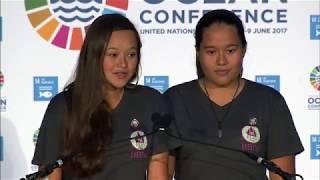 Melati and Isabel Wijsen - World Oceans Day 2017