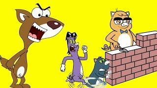 Rat-A-Tat  'Mice Brothers as Three Little Pigs + More Kids Fun'  Chotoonz Kids Funny Cartoon Videos