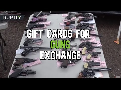 Gift Cards & Skateboards for Guns: San Diego residents give up their weapons