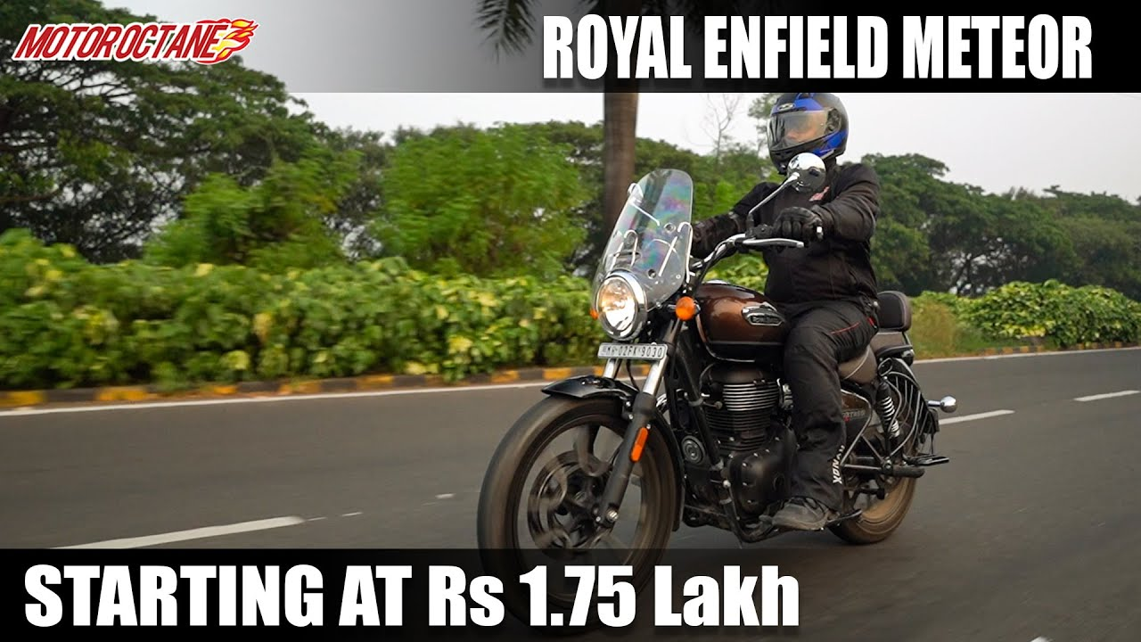 Motoroctane Youtube Video - Royal Enfield Meteor 350 Review - Better than Thunderbird?