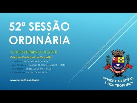 52º Sessão Ordinária• 17º Legislatura