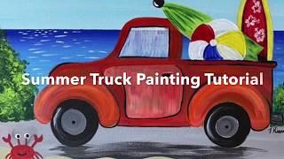 Summer Truck Acrylic Painting Tutorial