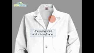 Red Kap Lab Coats - RE-KP14WH Mens 41.5 Inch Five Button Medical Uniform