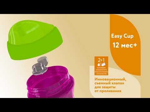 Chicco Easy Cup чашка-поильник (носик ободок), цвет розовый, рисунок цветочек, 266 мл.,12+