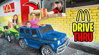 LETTING OUR KIDS DRIVE For The FIRST TIME!! (McDONALD'S Drive Thru) | The Royalty Family