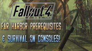 FALLOUT 4 Far Harbor Prerequisites & Survival Mode On Consoles!