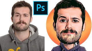 How To Create Cartoon / Caricature Effect In Photoshop - 2020 - Basic For Beginners