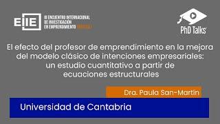 El efecto del profesor de emprendimiento en la mejora del modelo clásico de intenciones empresariales