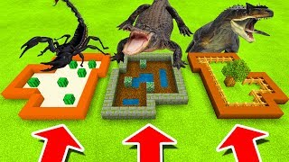 Minecraft PE : DO NOT CHOOSE THE WRONG FARM! (Scorpion, Alligator & Allosaurus)
