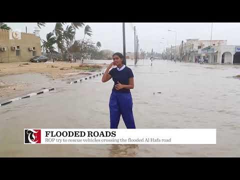 Video: Roads flooded in Salalah after Cyclone Mekunu strikes