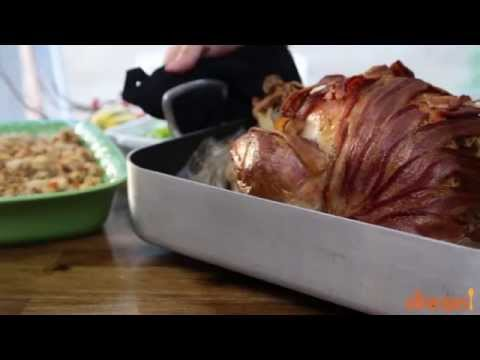How to Make Bacon Wrapped Turkey | Turkey Recipes | Allrecipes.com