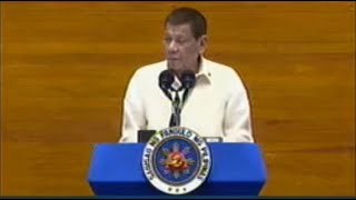 President Duterte delivers his fifth State of the Nation Address (SONA) on July 27, 2020