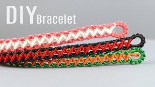 DIY Zig Zag Wave Bracelet Easy Tutorial | Macrame School