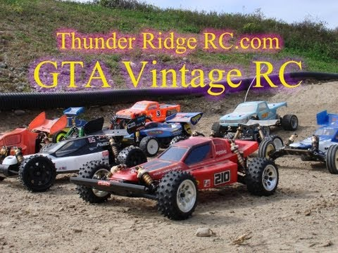 Collection Of Vintage RC Cars. GTA Vintage RC Display At Thunder Ridge RC