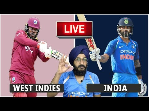 West Indies VS India Live Match REACTION | 1st ODI | WI VS IND | Live Score and Reaction