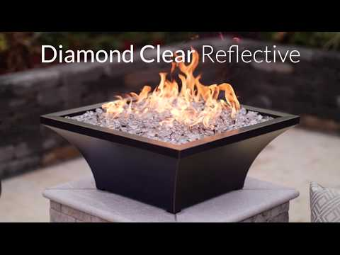 Diamond Clear Reflective Fire Glass | Lakeview Outdoor Designs