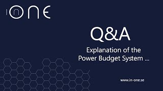 Can you explain the power budget ?