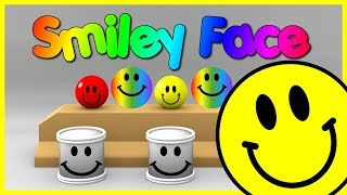 Learn Colors With Smiley Face Balls - Learn Colors With Smiley Balls Faces Drums Rubber Balls