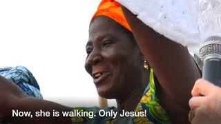 Woman walks after ten years