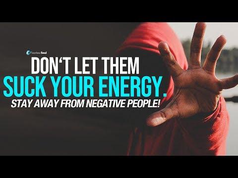 Blijf weg van negatieve mensen