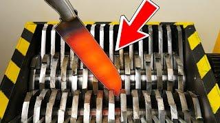 EXPERIMENT - SHREDDING KNIFE AT 1000 Degrees   -  Experiment At Home