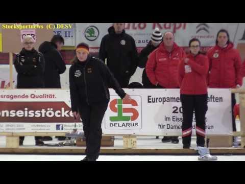 Eisstocksport EM 2017, Finale Damen Mannschaftsspiel GER : AUT
