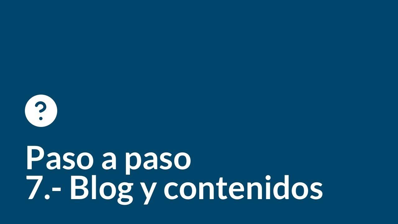 Crea tu web desde cero paso a paso   Capítulo 7   Blog y contenidos
