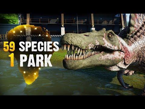 59 SPECIES, 1 PARK! | Part 7 (Jurassic World: Evolution All-Species Park)