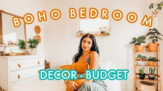 BEDROOM MAKEOVER - Bohemian, Neutral, Minimalist Aesthetic Decor