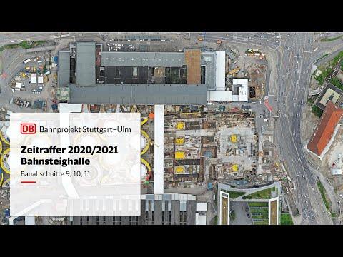 Neue Bahnsteighalle Bauabschnitte 9, 10, 11 – Zeitrafferfilm 2020/2021