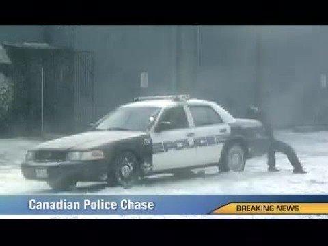Pościg w wykonaniu kanadyjskiej policji