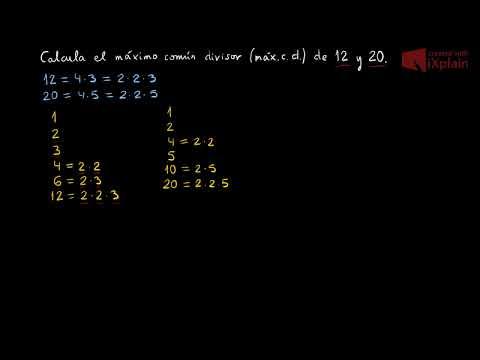 Cálculo del máximo común divisor de varios números usando su descomposición en factores primos (1)