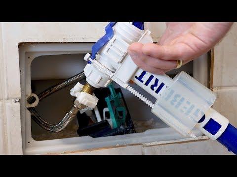 Toilettenspülung (Wasser) läuft nach! Unterputz Spülkasten von Geberit (in der Wand) reparieren!