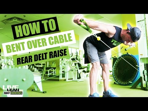 How To Do A BENT OVER CABLE REAR DELT RAISE | Exercise Demonstration Video and Guide