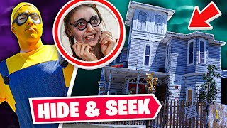 CLICK HIDE & SEEK IN A HAUNTED HOUSE