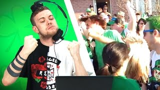 Irish People Watch St. Patrick's Day Fights