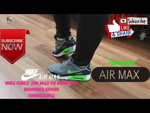Nike Girls Air Max 90 Mesh (Gs) running Shoes (Unboxing)