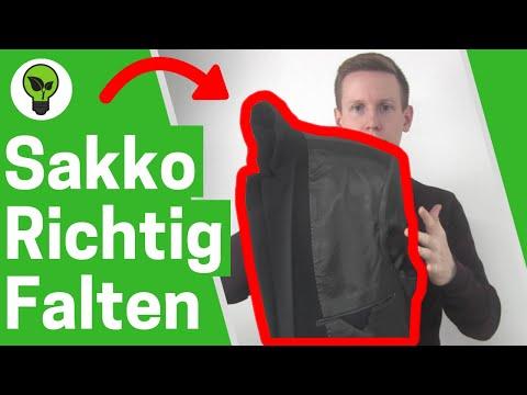 Sakko falten für Koffer ✅ ULTIMATIVE ANLEITUNG: Herren Anzug zusammenlegen & Jackett, Blazer packen!