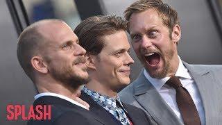 Watch Alexander Skarsgard Try to Make Brother Bill Jump at 'It' Premiere   Splash News TV