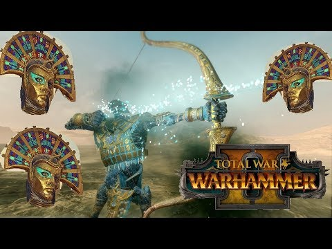 Tomb Kings vs Dark Elves | KHALIDA MISSILE BUILD - Total War Warhammer 2