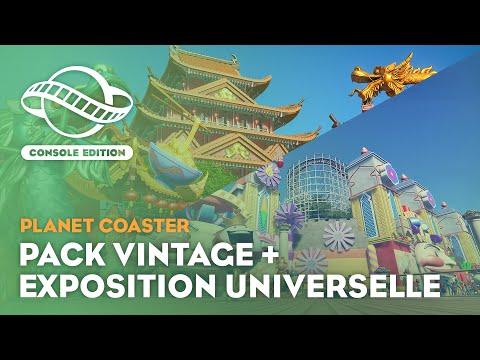 Pack The Vintage et World's Fair pour l'édition console de Planet Coaster