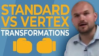 What are the transformations of vertex form of a quadratic compared to standard form
