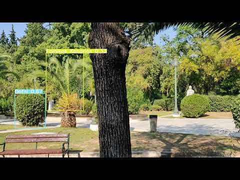 """VR-Park A.I. – Plant species identification in """"Pedion Areos"""" park (test video 2)"""
