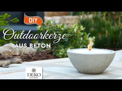 DIY: große Outdoor-Kerze aus Beton selbermachen [How to] Deko Kitchen