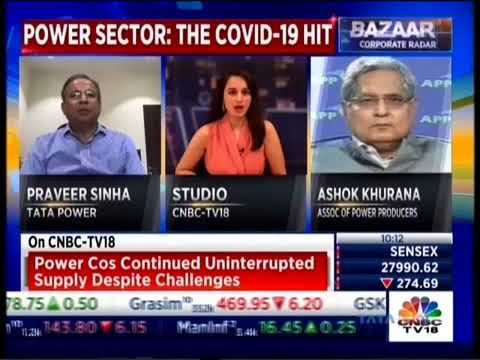 Mr Praveer Sinha's Interview about the impact on the power sector due to COVID-19 on CNBC-TV18