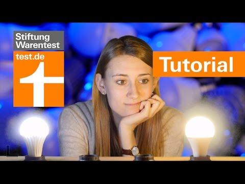 Tutorial: Kalt oder warm - welche LED-Lampe für welchen Raum? Kaufberatung Lampen Stiftung Warentest
