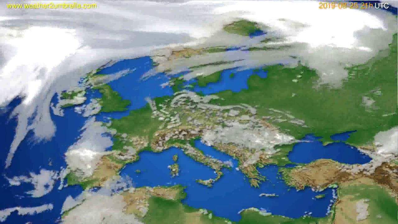 Cloud forecast Europe // modelrun: 00h UTC 2019-08-24