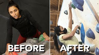 Michelle Khare Tries Bouldering ( from Fear to Fearless ) by  rockentry