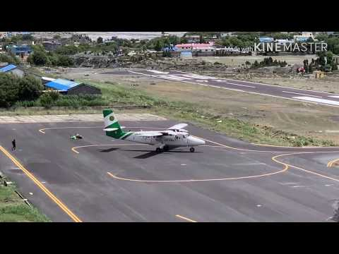 Dangerous plan landing jomsom airport Nepal